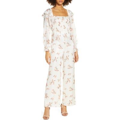 Ali & Jay Los Feliz Long Sleeve Floral Jumpsuit, Ivory