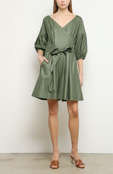 Wrap Front Belted Romper, video thumbnail