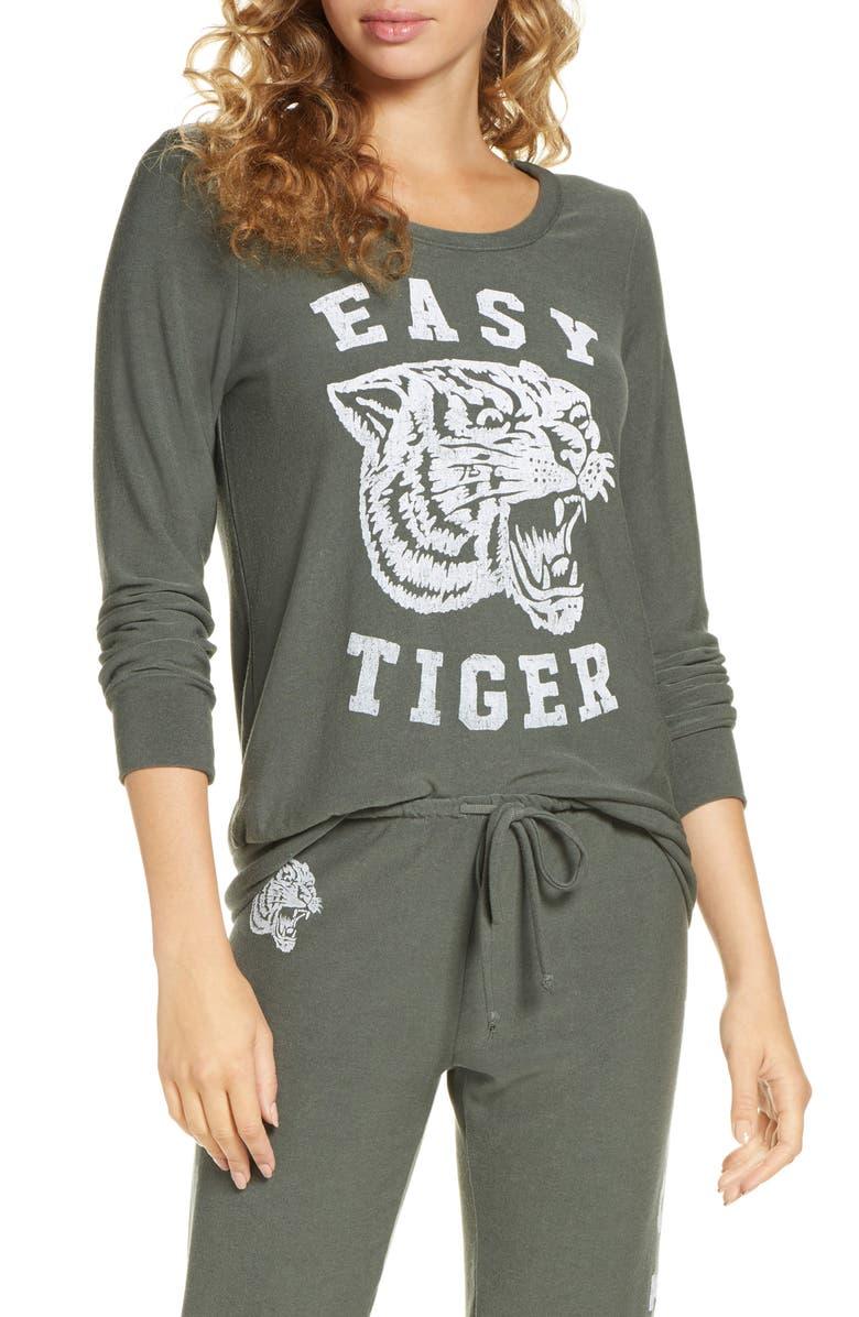 CHASER Easy Tiger Sweatshirt, Main, color, SAFARI