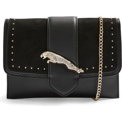 Topshop Convertible Faux Leather Clutch - Black