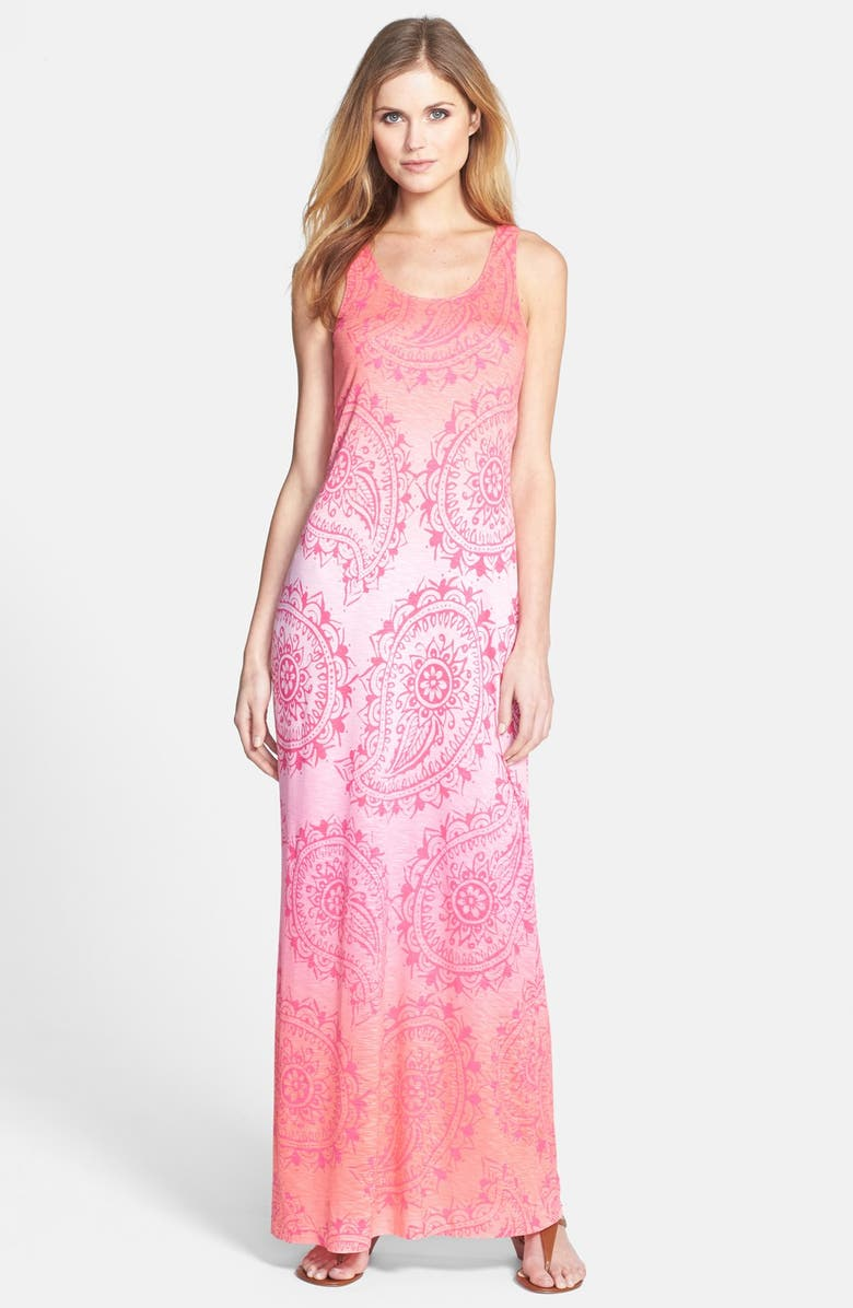 TOMMY BAHAMA 'Sunset Paisley' Jersey Maxi Dress, Main, color, 650