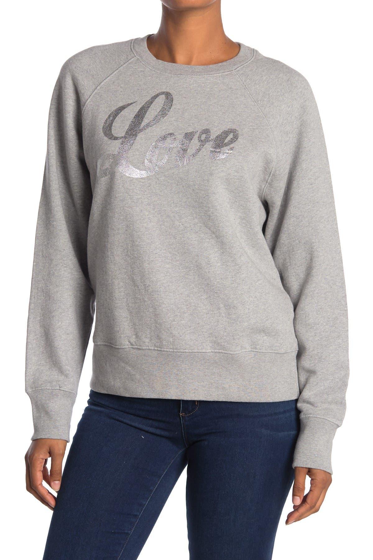 Image of Zadig & Voltaire Love Amour Raglan Pullover Sweatshirt