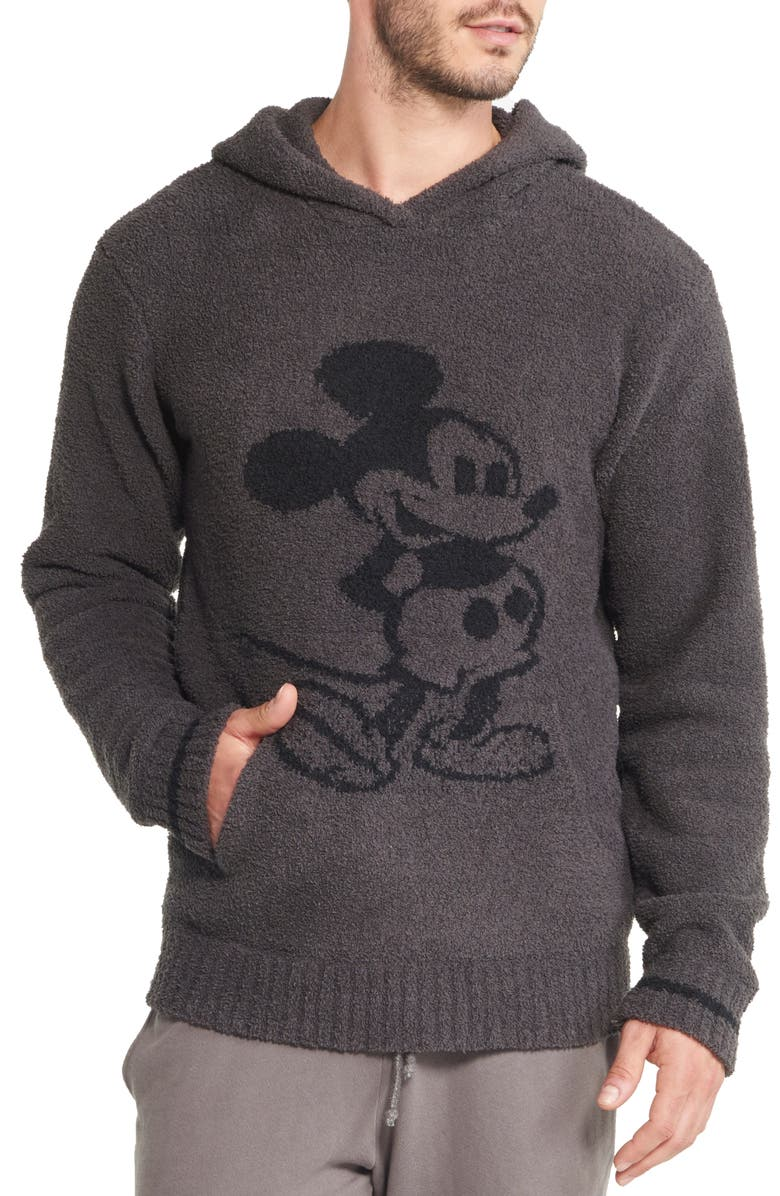 BAREFOOT DREAMS<SUP>®</SUP> Barefoot Dreams Mickey Mouse Hoodie, Main, color, CARBON