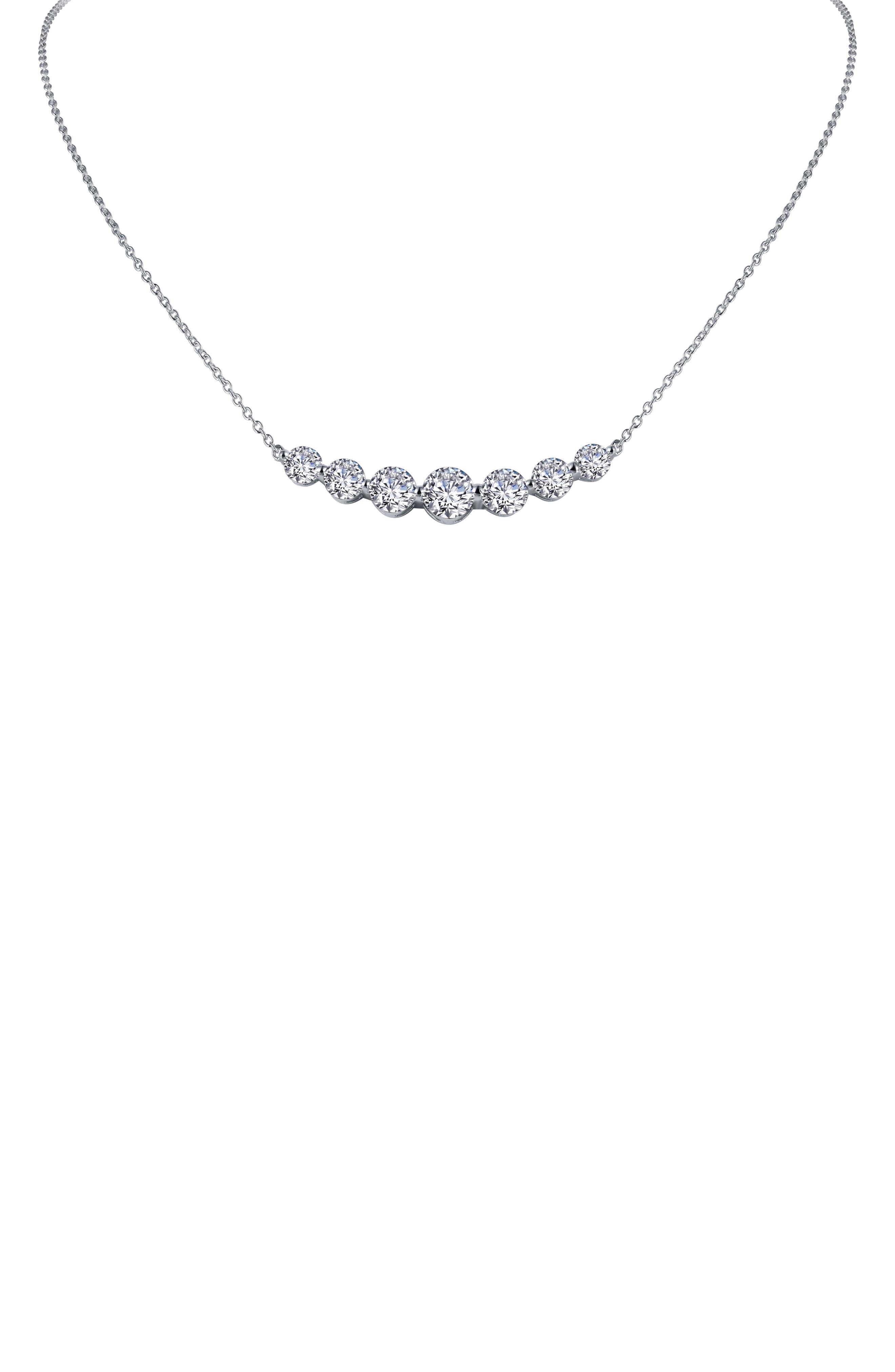 Seven Symbols Of Joy Simulated Diamond Necklace