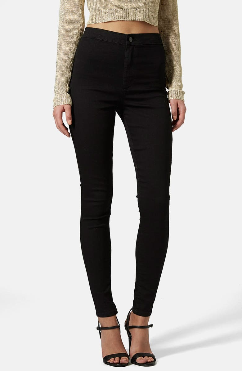 TOPSHOP Moto 'Joni' High Rise Skinny Jeans, Main, color, 001