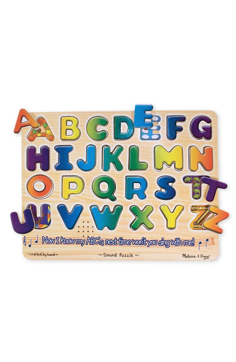 MELISSA & DOUG Sound Puzzle, Main, color, ALPHA