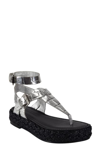 Image of Sigerson Morrison Jabel Leather Espadrille Platform Sandal