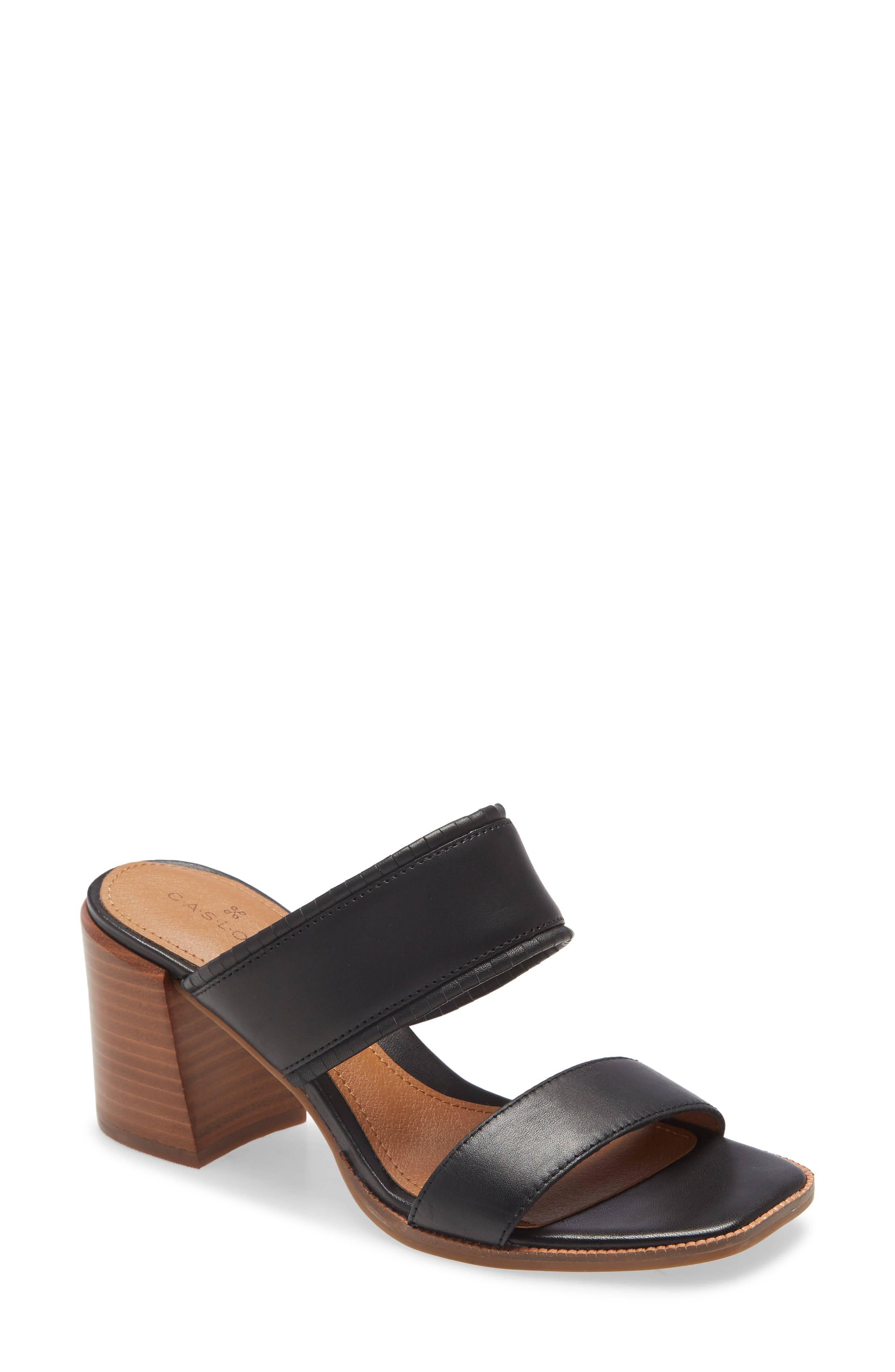 A chunky, stacked heel lifts a simplistic sandal that\\\'s comfy, timeless and chic. Style Name: Caslon Kalina Block Heel Slide Sandal (Women). Style Number: 5994594. Available in stores.