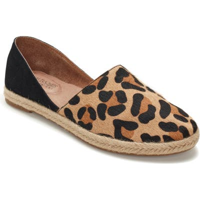 Adam Tucker Sunny Genuine Calf Hair Espadrille Flat- Brown