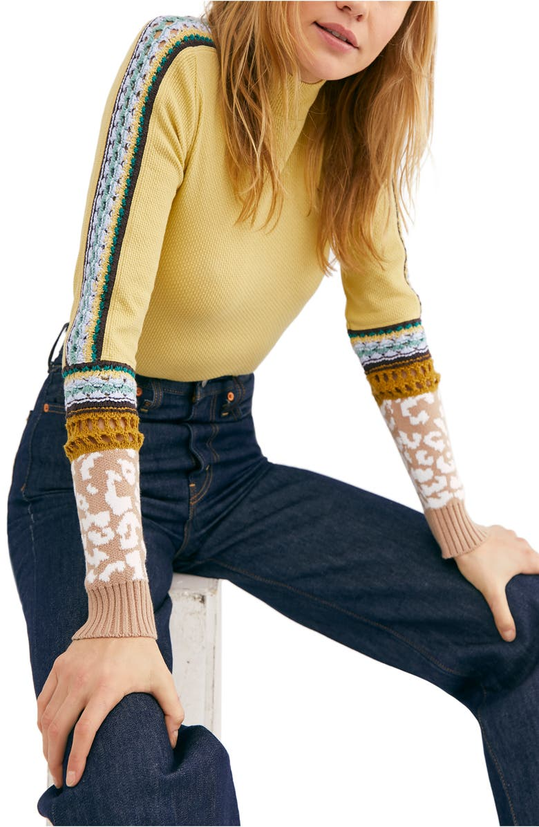 FREE PEOPLE Switch it Up Thermal Top, Main, color, SUN DOWN COMBO