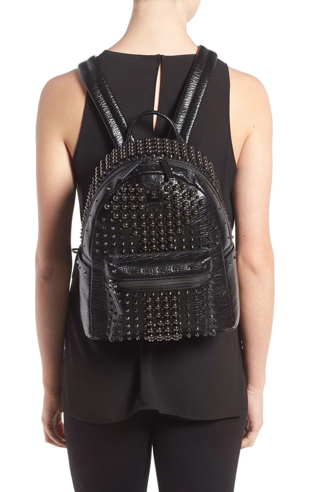 ,                             Small Stark Studs Backpack,                             Alternate thumbnail 6, color,                             001