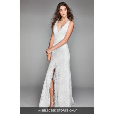 Willowby Libra Lace Sheath Gown, Size IN STORE ONLY - Ivory