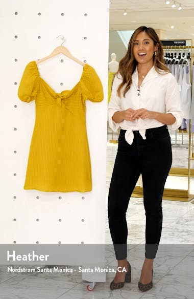 Shadow Stripe Tie Front Minidress, sales video thumbnail