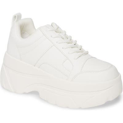Topshop Cali Platform Sneaker - White