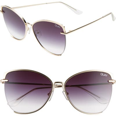 Quay Australia Dusk To Dawn 60Mm Sunglasses - Gold/ Smoke