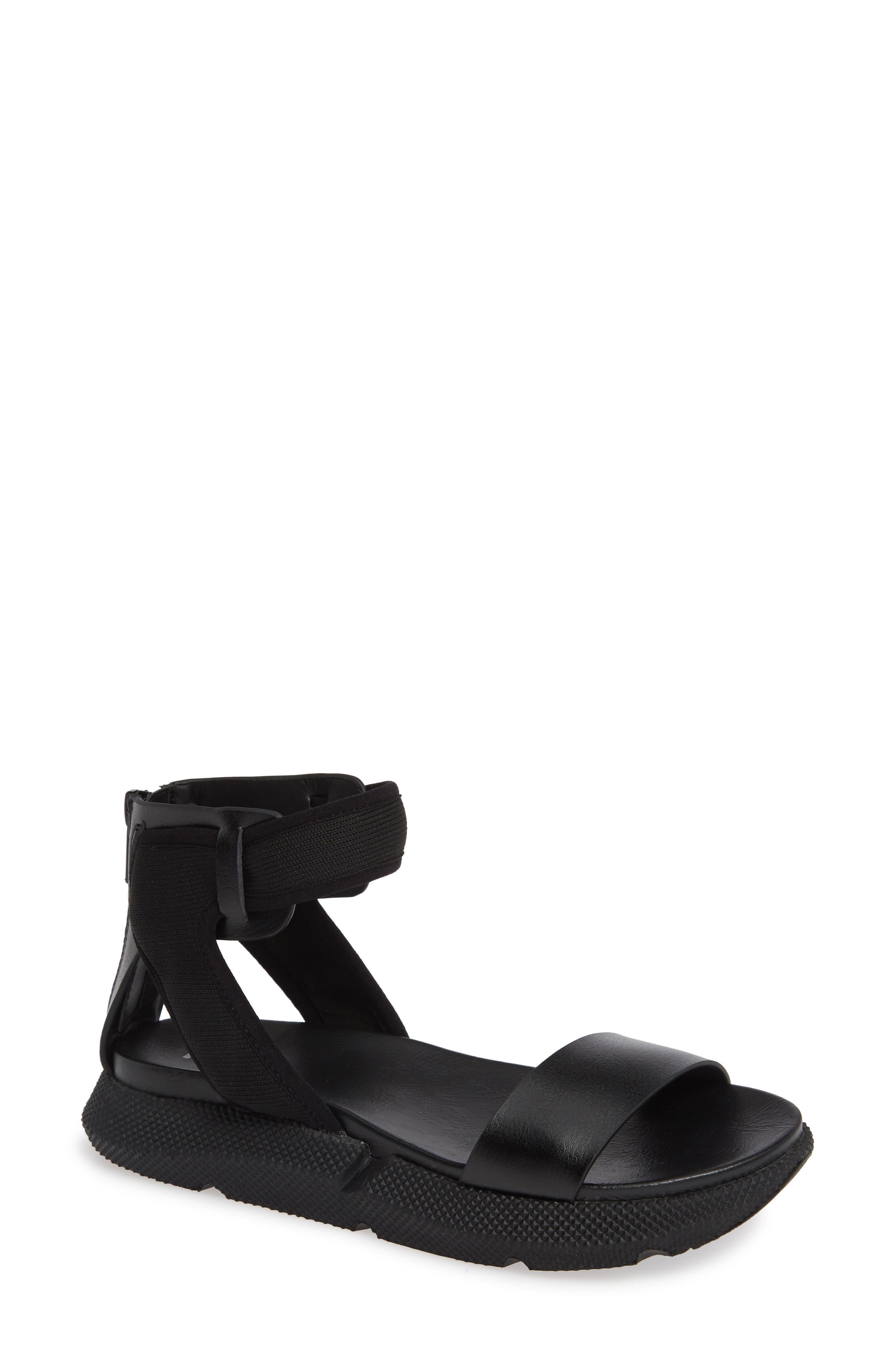 Tali Sandal, Main, color, BLACK VEGAN LEATHER