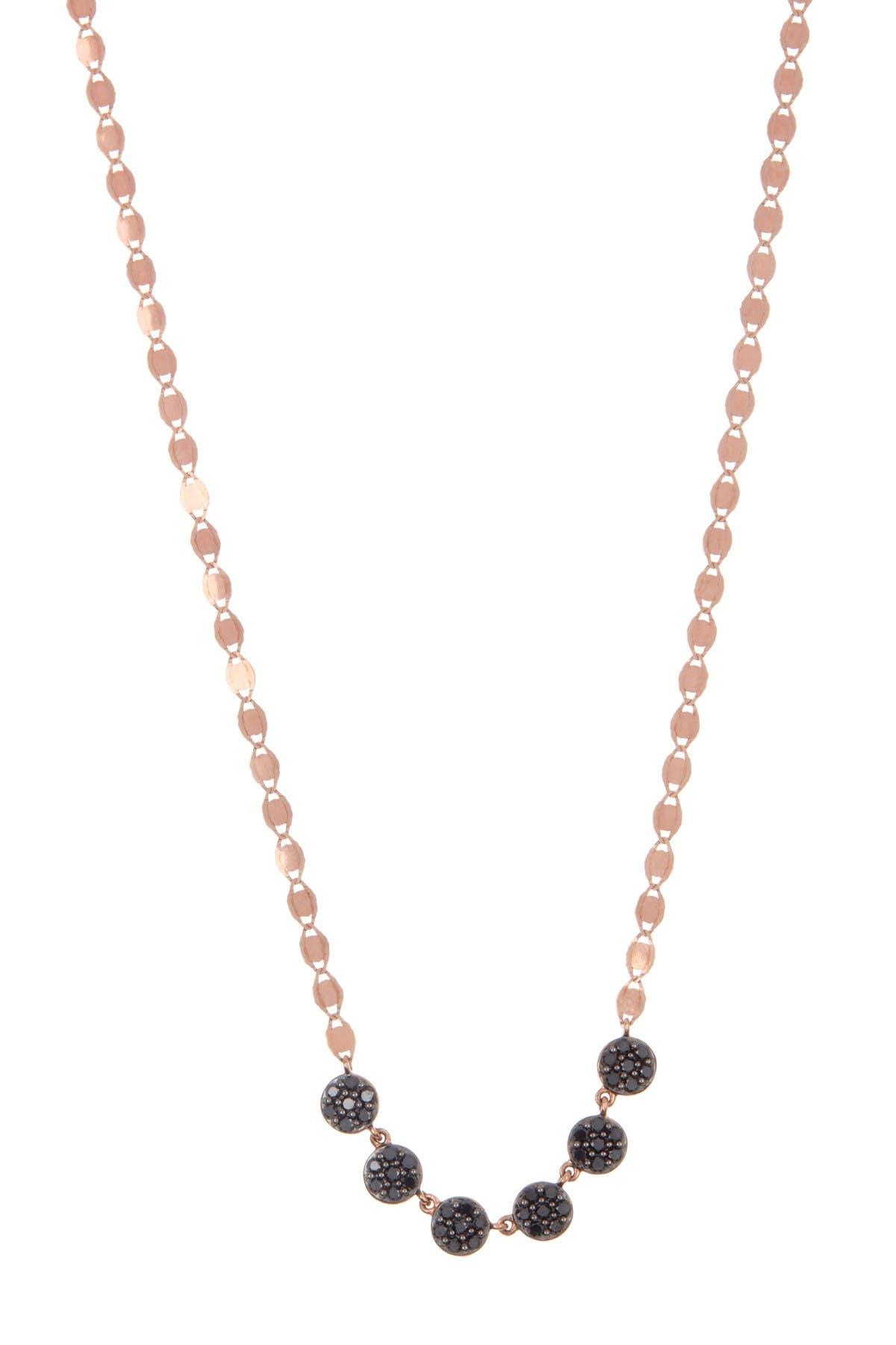 Lana Jewelry 14k Rose Gold Black Diamond Disc Necklace Nordstrom Rack