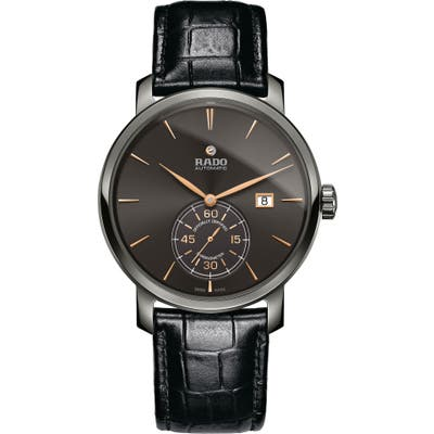Rado Diamaster Automatic Chronometer Leather Strap Watch,
