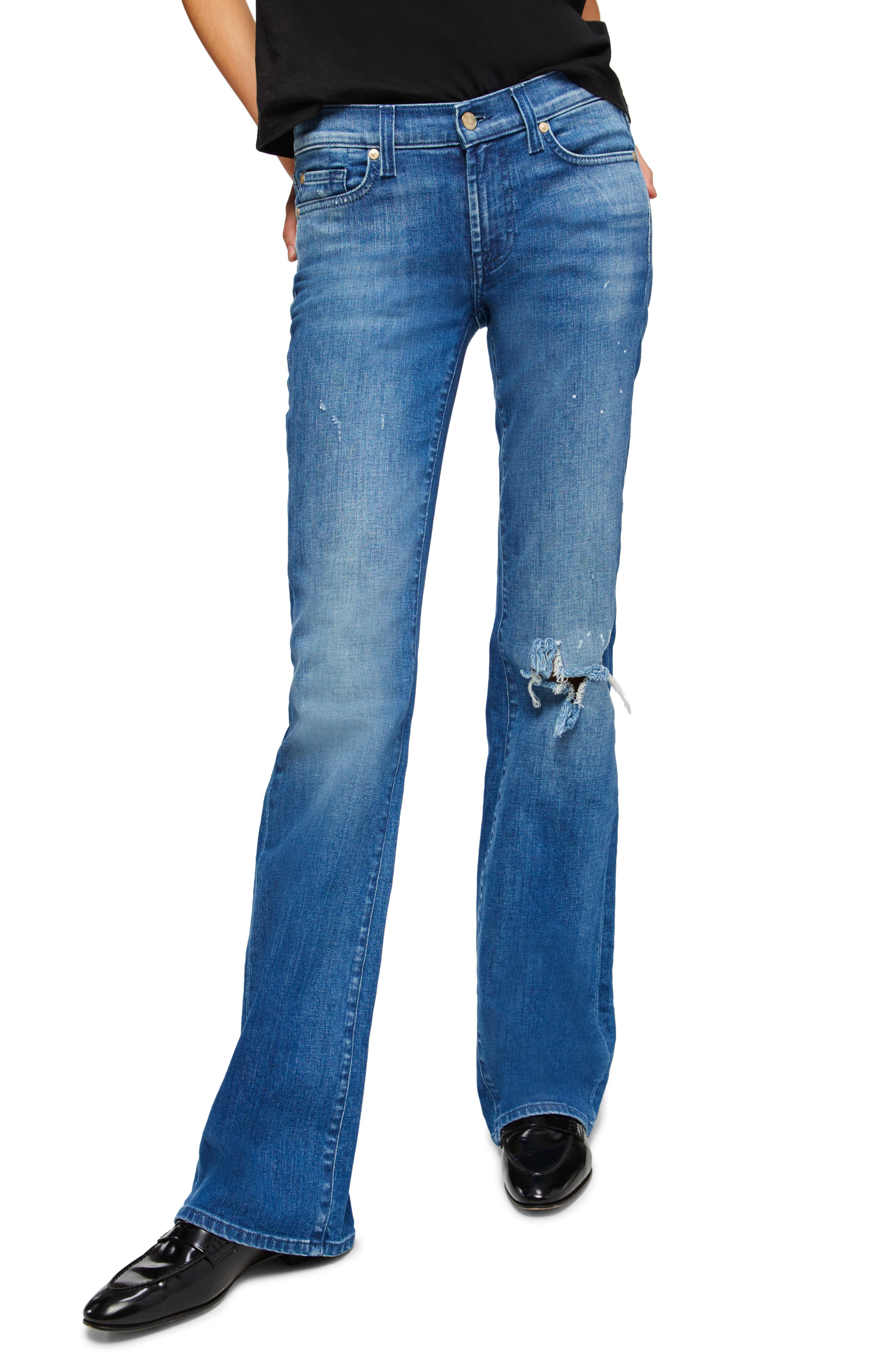 Women's 7 For All Mankind Ripped Original Bootcut Jeans