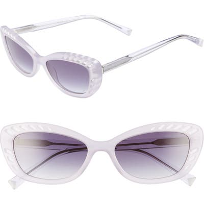 Kendall + Kylie Extreme 55mm Cat Eye Sunglasses - Lavender