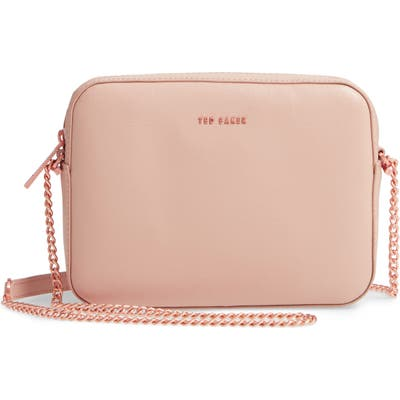 Ted Baker London Judithh Bow Detail Leather Crossbody Bag - Beige