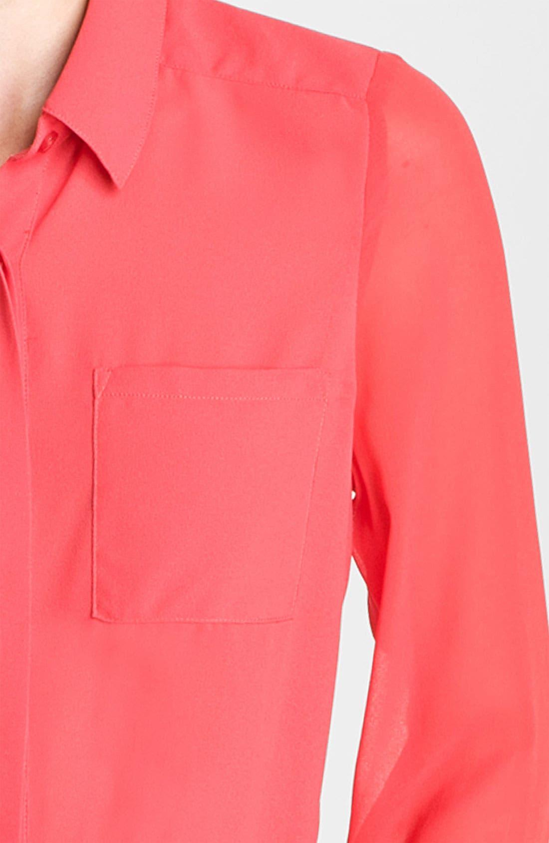 ,                             Lush Sheer Panel High/Low Shirt,                             Alternate thumbnail 14, color,                             622