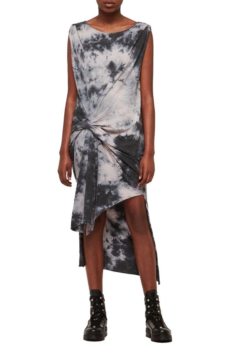ALLSAINTS Dytie Riviera Dress, Main, color, 020