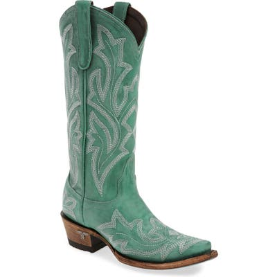 Lane Boots Saratoga Western Boot, Blue/green