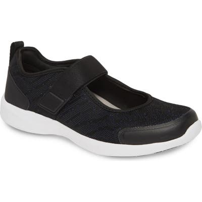 Vionic Jessica Mary Jane Sneaker- Black