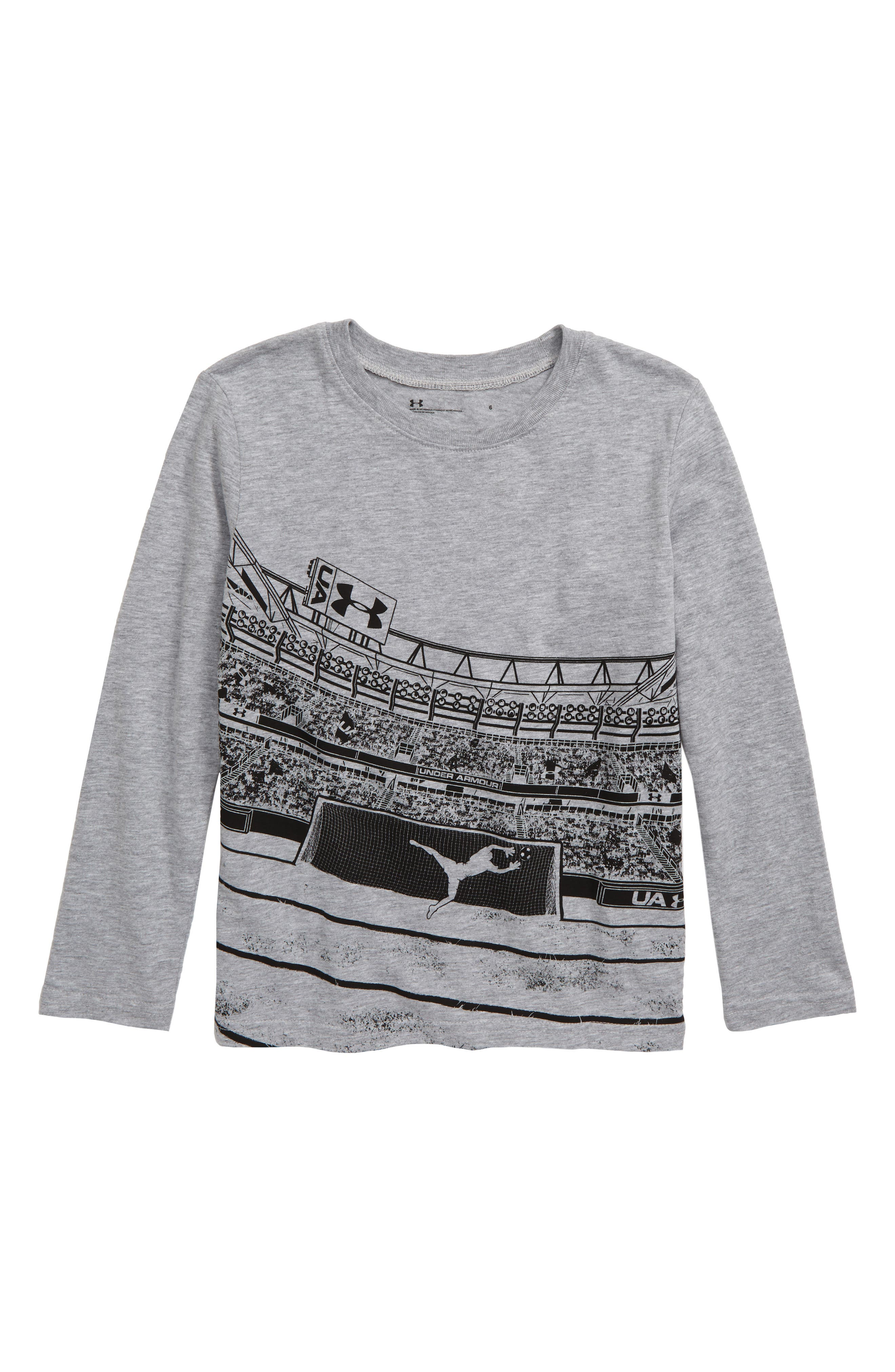 Toddler Boys Under Armour Soccer Graphic TShirt Size 2T  Grey