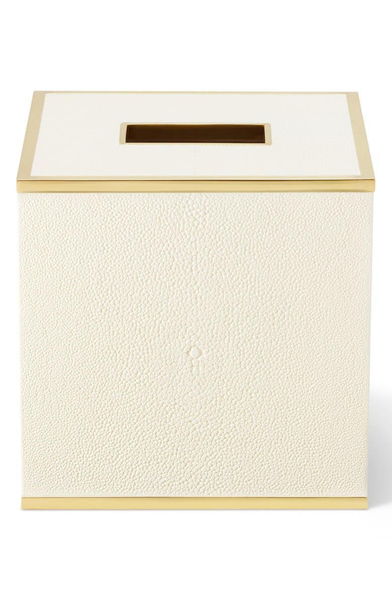 AERIN Shagreen Tissue Box, Main, color, CREAM