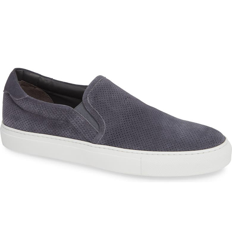 TO BOOT NEW YORK Racer Slip-On, Main, color, GREY SUEDE