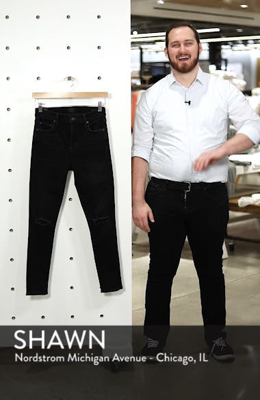 Rocket High Waist Ripped Ankle Skinny Jeans, sales video thumbnail