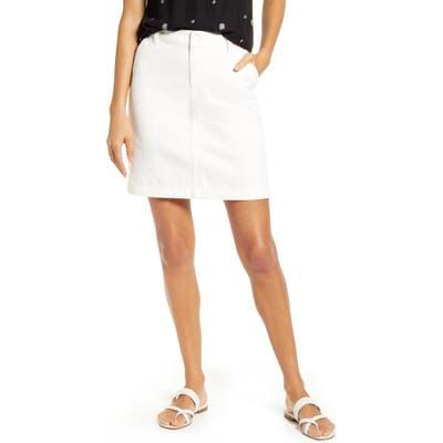 Petite Gibson X Hi Sugarplum! Positano Denim Skirt, White
