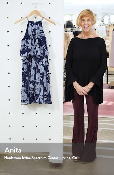 Floral Print Halter Dress, sales video thumbnail