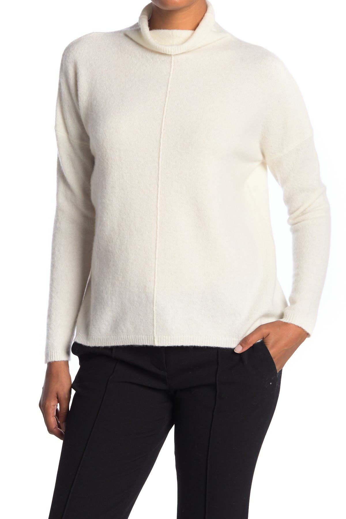 Image of Kinross Relaxed Funnel Neck Cashmere Blend Sweater