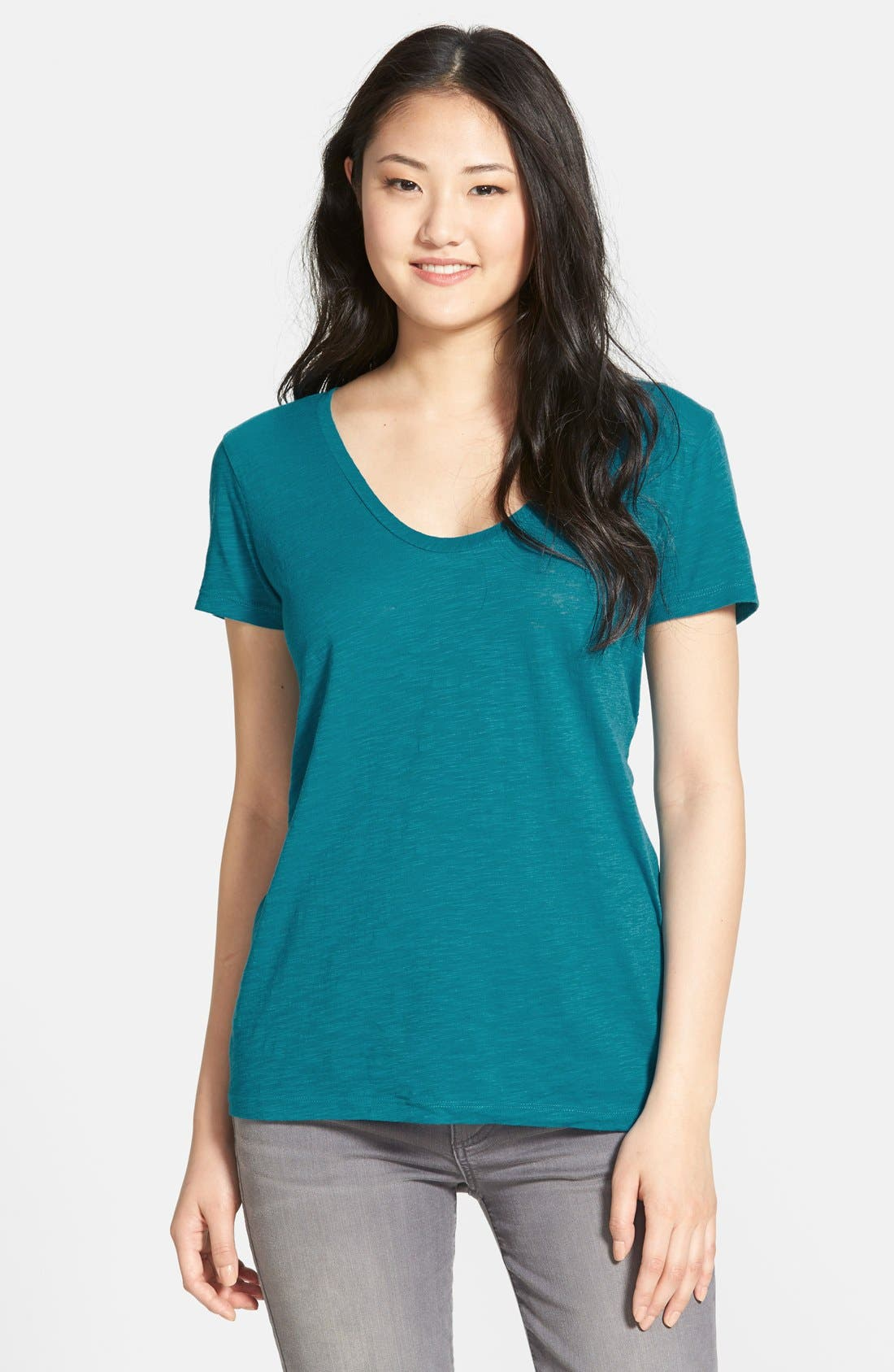 ,                             Relaxed Slub Knit U-Neck Tee,                             Main thumbnail 315, color,                             462