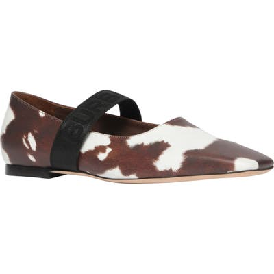 Burberry Pennine Mary Jane Flat, Brown