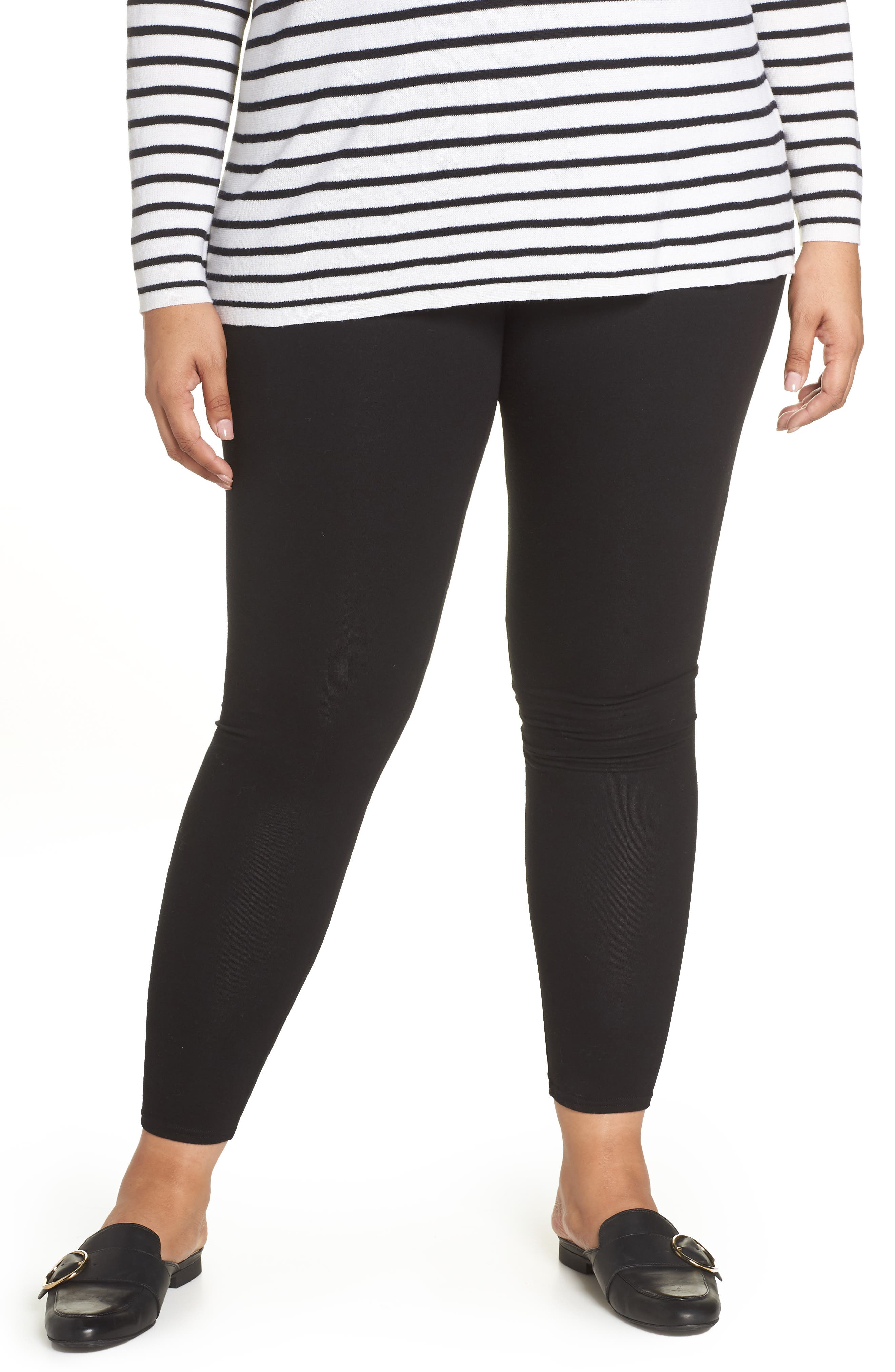 Plus Size Nordstrom Go-To High Waist Leggings, Black