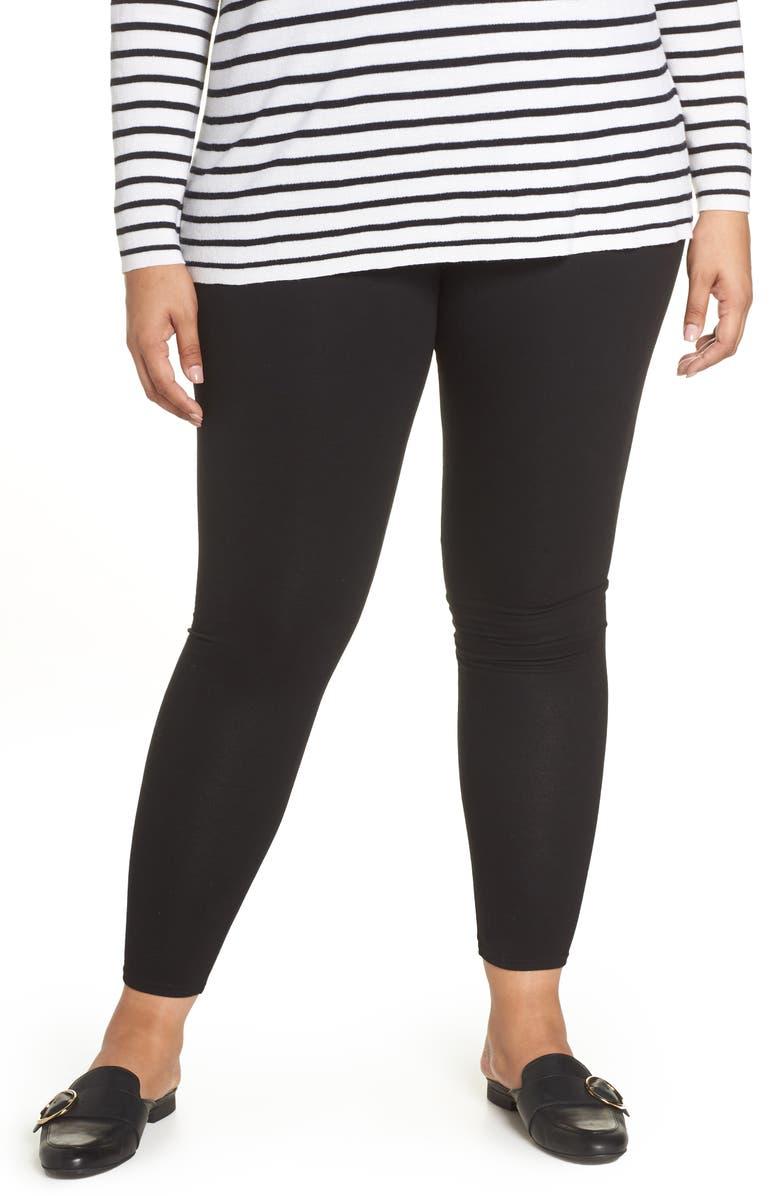 NORDSTROM Go-To High Waist Leggings, Main, color, BLACK
