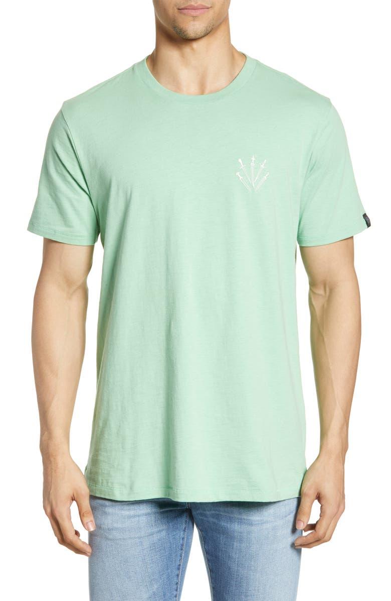 RAG & BONE Dagger Embroidered T-Shirt, Main, color, MINT