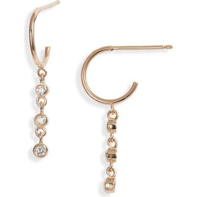 Zoe Chicco Tiered Diamond Huggie Earrings