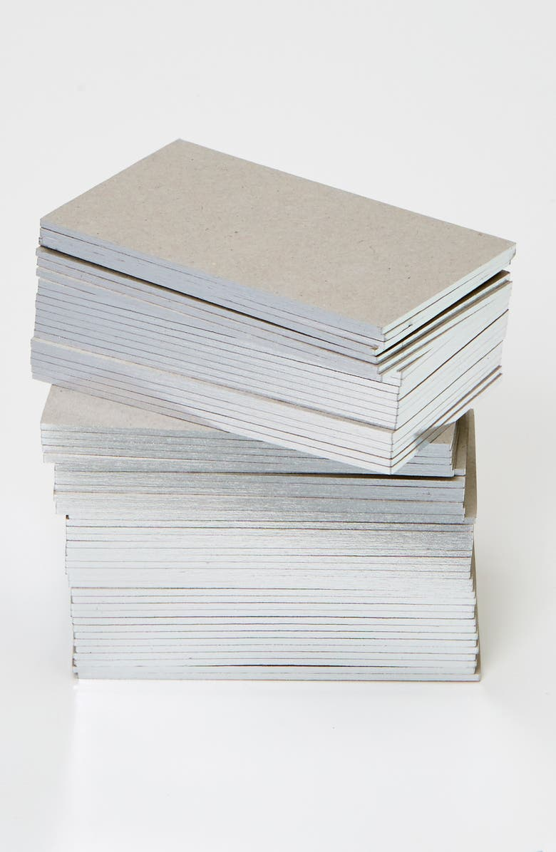 WMS & CO. Metallic Edged Business Cards, Main, color, SILVER