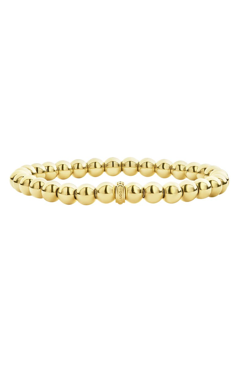 LAGOS Caviar Gold Ball Stretch Bracelet, Main, color, GOLD
