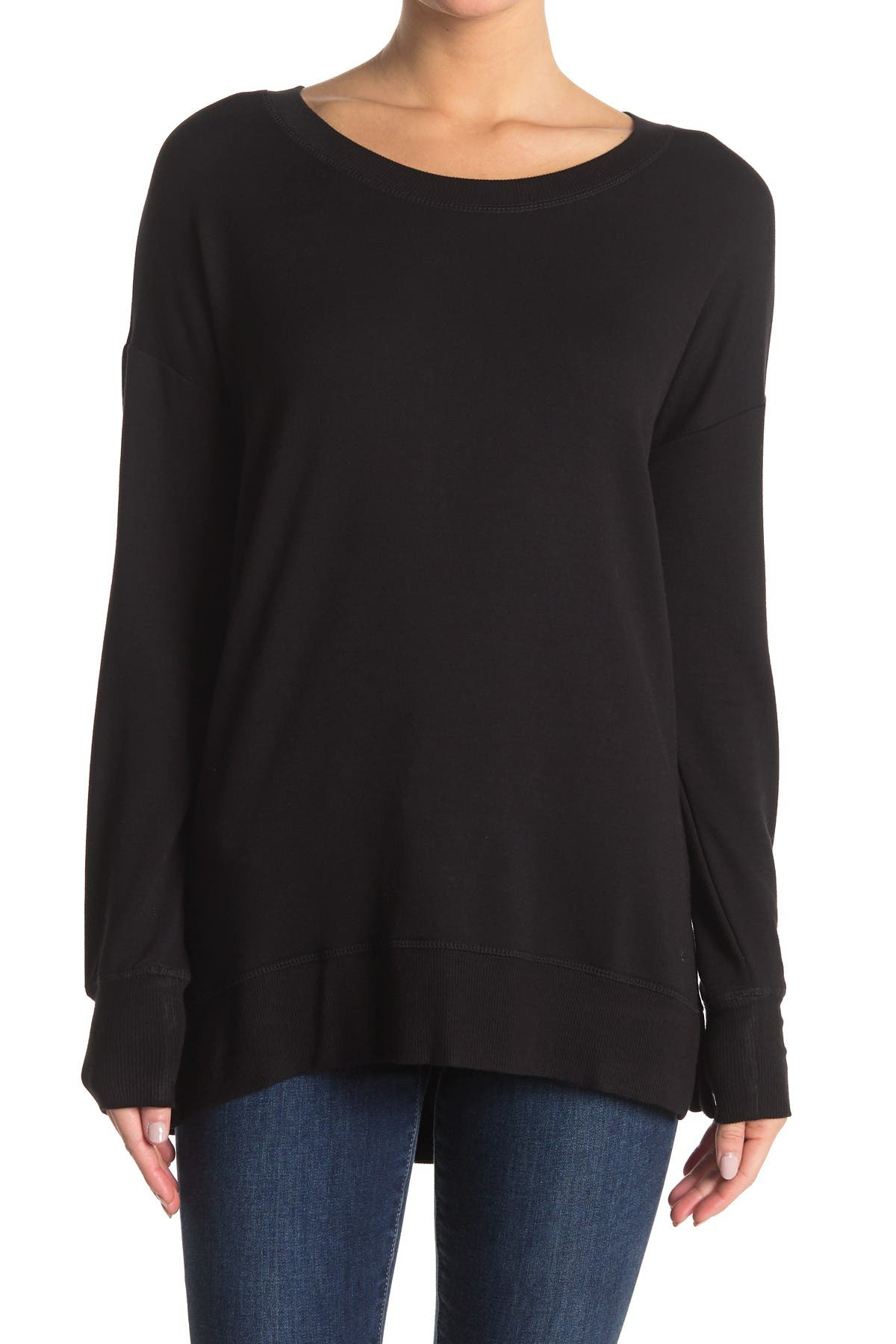 Image of Workshop Crew Neck Drop Shoulder Sleeve Sweatshirt