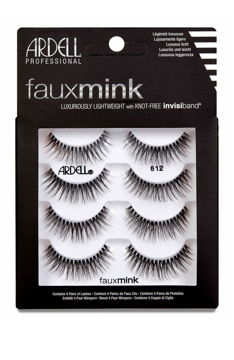 ARDELL Faux Mink 812 Lashes - Pack of 4, Main, color, NO COLOR
