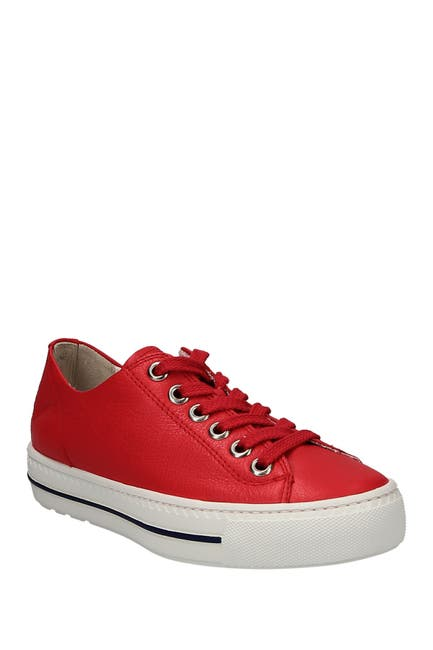 Image of Paul Green Leather Lace-Up Sneaker