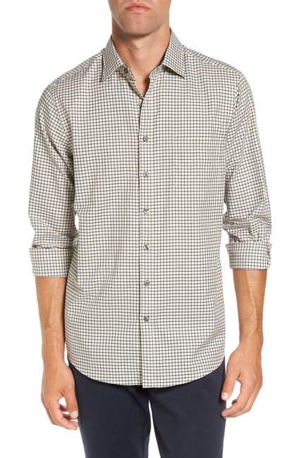 Image of RODD AND GUNN Glenview Mini Check Sports Fit Shirt