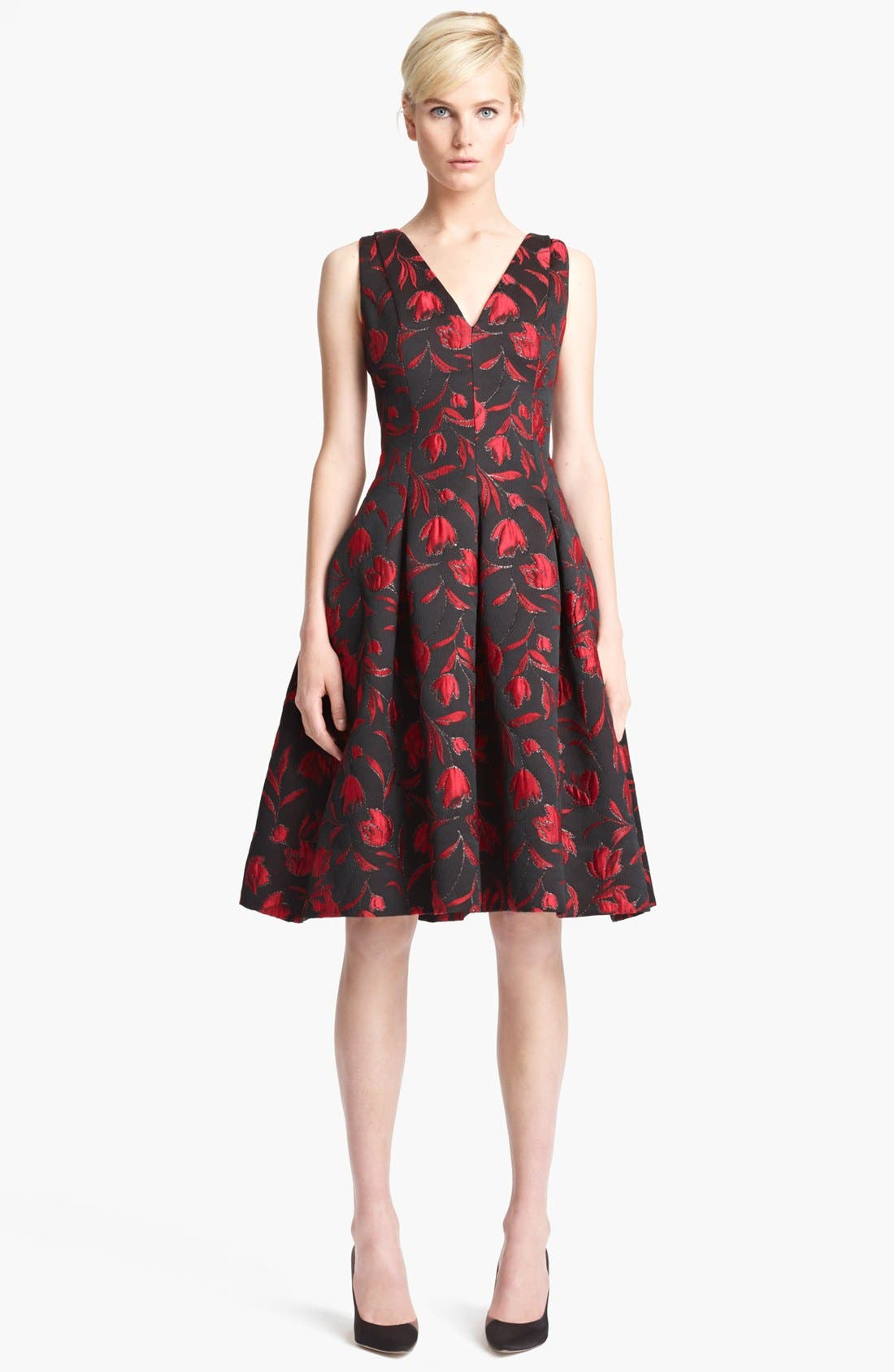Floral Embroidered Dress, Main, color, 641