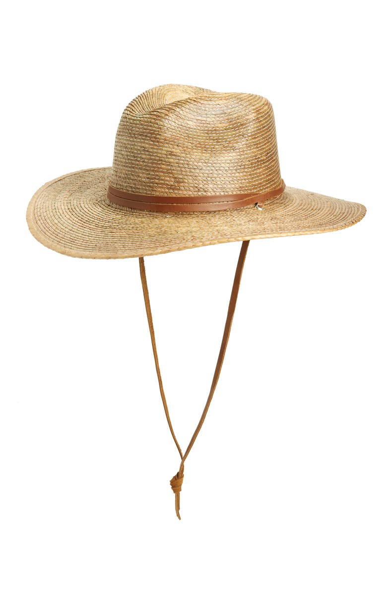 SOLE SOCIETY Western Woven Straw Panama Hat, Main, color, 200